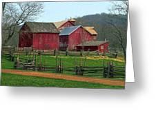 Country Barns Greeting Card