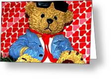 Country Bear Valentine Greeting Card