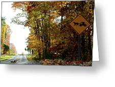 Country Buggie Sign Greeting Card