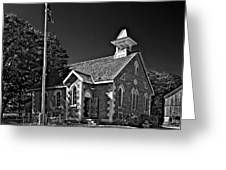Country Church Monochrome Greeting Card