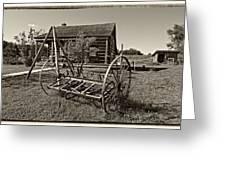 Country Classic Monochrome Greeting Card