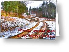 Country Lane Holiday Card Greeting Card