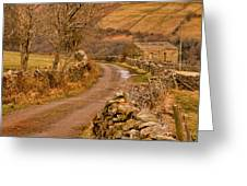 Country Lane Yorkshire Dales Greeting Card