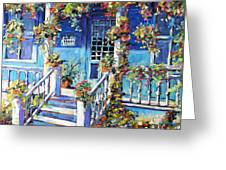 Country Porch And Flowers By Prankearts Greeting Card