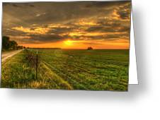 Country Roads Sunset Greeting Card