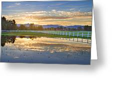 Country Sunset Reflection Greeting Card