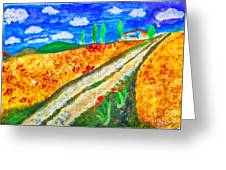 Country Tracks Greeting Card