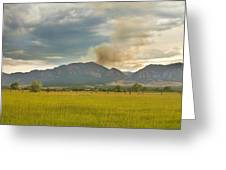 Country View Of The Flagstaff Fire Greeting Card