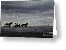 Country Wagon Greeting Card