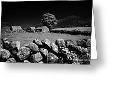 Countryside Beneath Slieve Binnian In The Mourne Mountains Northern Ireland Greeting Card