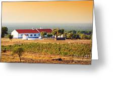 Countryside House Greeting Card by Carlos Caetano