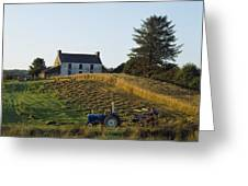County Cork, Ireland Farmer On Tractor Greeting Card