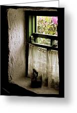 County Kerry, Ireland Cottage Window Greeting Card