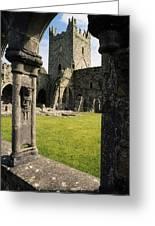 County Kilkenny, Ireland Jerpoint Abbey Greeting Card