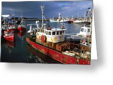 County Waterford, Ireland Fishing Boats Greeting Card