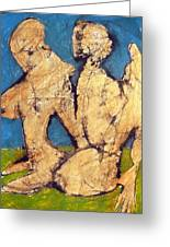 Couple In Landscape Greeting Card