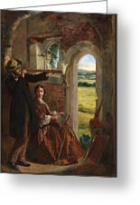 Couple Observing A Landscape Greeting Card by English School