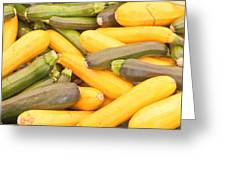 Courgettes Greeting Card by Tom Gowanlock