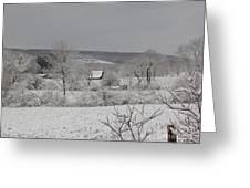 Courrier And Ives Winter Greeting Card