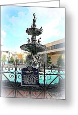 Court Square Fountain Greeting Card