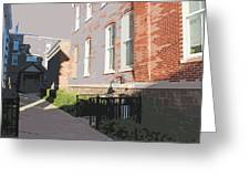 Courthouse Alley Greeting Card