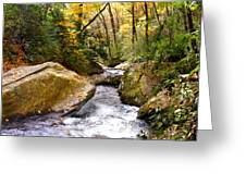 Courthouse River In The Fall 2 Greeting Card