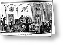 Courtroom, 1842 Greeting Card