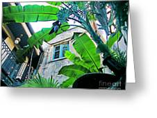 Courtyard Feelings Cafe Nola Greeting Card
