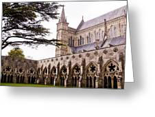 Courtyard Salisbury Cathedral - England Greeting Card