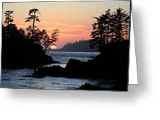 Cove At Sunset Greeting Card