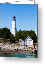 Cove Island Lighthouse Greeting Card