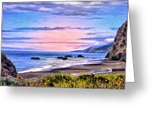 Cove On The Lost Coast Greeting Card