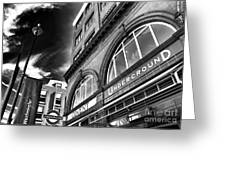 Covent Underground Station Greeting Card