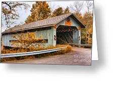 Covered Bridge 3 Greeting Card