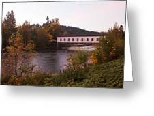 Covered Bridge At Dawn No. 1 Greeting Card