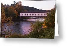 Covered Bridge At Dawn No. 2 Greeting Card