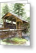 Covered Bridge At Knoebels  Greeting Card