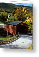 Covered Bridge In Vermont Greeting Card