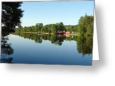 Covered Bridge Reflections At L'ange Gardien Quebec Greeting Card