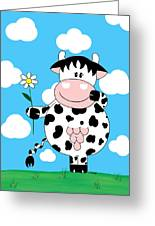 Cow Daisy Greeting Card