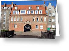 Cow Gate In Gdansk Greeting Card