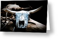 Cow Skull In Shade Greeting Card