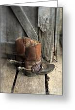Cowboy Boots With Spurs Greeting Card