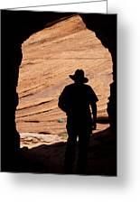 Cowboy Caveman Greeting Card