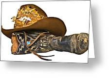Cowboy Hat And Boot Greeting Card