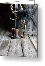 Cowboy Hat Boots Lasso And Rifle Greeting Card