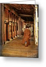 Cowboy In Old West Town Greeting Card
