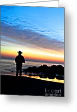 Cowboy Sunrise Greeting Card