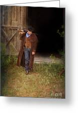 Cowboy With Guns Greeting Card