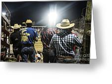 Cowboys At Rodeo Greeting Card